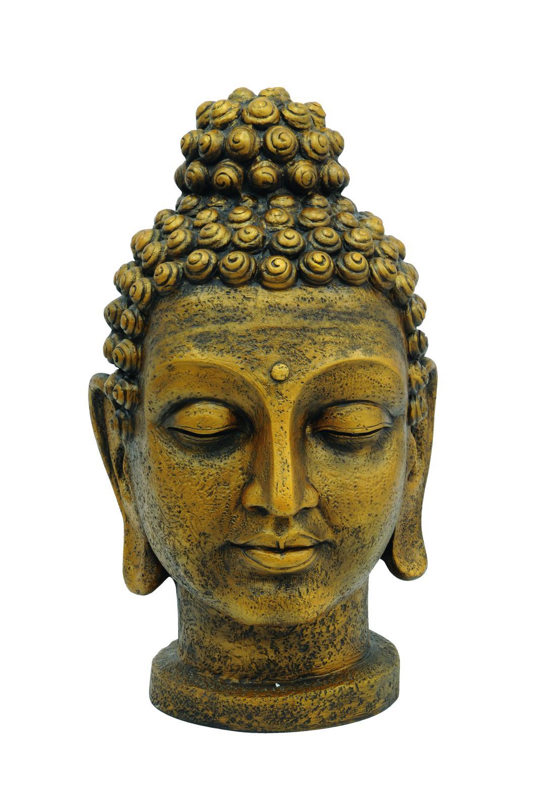 Buddhakopf antik gold 75cm buddha statue budda figur ebay for Figur buddha
