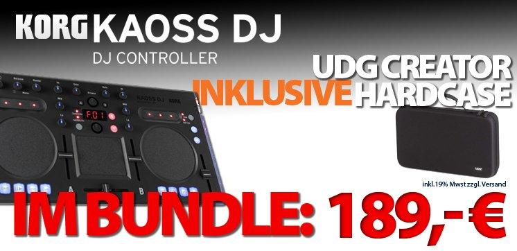 KORG KAOSS DJ im Bundle mit UDG CREATOR Hardcase -SPECIAL DEAL