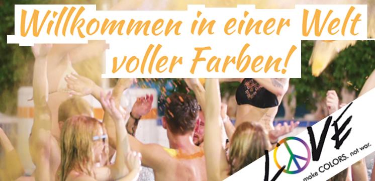 Love Colors EINHORNPULVER - HOLI FARBEN endlich auch für INDOOR und POOLPARTYs