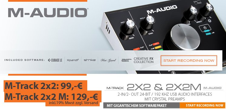 M-Audio M-Track USB-Audio/MIDI Interfaces