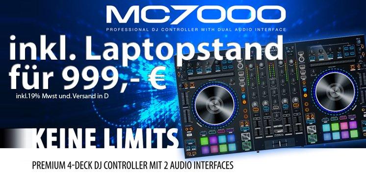 Denon MC7000 - Premium 4-Kanal DJ Controller mit 2 Audio Interfaces
