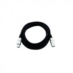 Kabel MC-05, 0,5m, schwarz,XLR m/f, sym