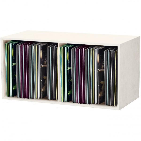 glorious record box white 230 platten regal. Black Bedroom Furniture Sets. Home Design Ideas