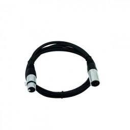 Kabel FP-10 XLR 5pol m/f schwarz 1m