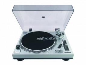 OMNITRONIC DD-2550 USB-Plattenspieler - DD2550, DD 2550 Silber Turntable