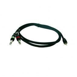 Reloop Kabel Stereo 3,5 mm Klinke M / 2x Mono 6,3 mm Klinke M 1,5 m