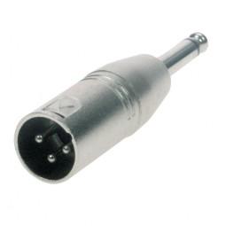 Reloop Adaptor XLR M / Mono 6.3 mm Jack M