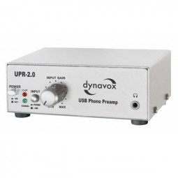 Dynavox Profi USB-Phono-Vorverstärker UPR-2.0 silber / USB Plattenspieler zu PC + Vorverstärker