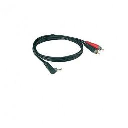 Klotz 1x Mini Klinke, gewinkelt/2x Cinch Stecker 3 m AY7A0300