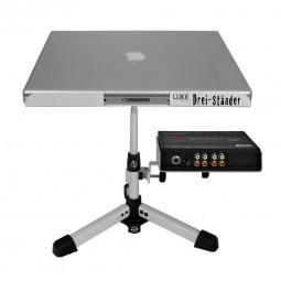 Luke Laptop Ständer Drei-Ständer weiss