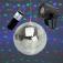 Spiegelkugelset 20cm LED Starter ? wireless Mirrorball Set / Batteriemotor und LED Strahler