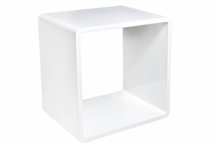 7even® Lounge Design Cube / Weiss 45cm / Regal, Tisch, Cube Würfel Regal