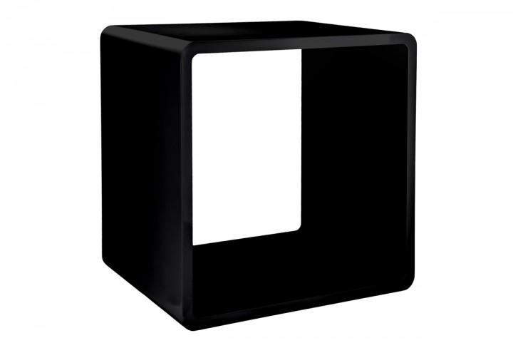 7even lounge design cube 70 s space age stil 45cm cuben w rfel regal retro schwarz. Black Bedroom Furniture Sets. Home Design Ideas
