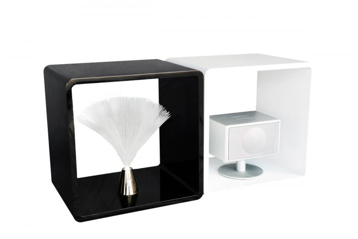 7even lounge design cube 70 s space age stil 45cm cuben w rfel regal retro schwarz dj m bel. Black Bedroom Furniture Sets. Home Design Ideas