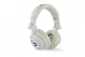 7even® Headphone white / Dj, Hifi, Sport Kopfhörer, dreh-klappbar, tauschbares Kabel, 110db