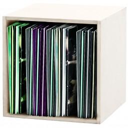 Glorious Record Box white 110 / Platten-Regal