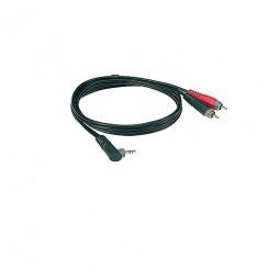 Klotz 1x Mini Klinke, gewinkelt/2x Cinch Stecker 1 m AY7A0100