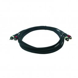 Reloop Kabel 2x Cinch M / 2x Cinch W 3,0 m