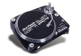 DJ-Tech SL 1300 MK6 schwarz / USB Plattenspieler für DJ oder Recording, 33,45 und 78 rpm!