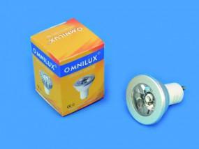 OMNILUX GU-10 230V 1x3W LED blue