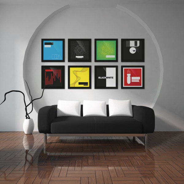 glorious vinyl frame set black 3er set schallplatten 12. Black Bedroom Furniture Sets. Home Design Ideas