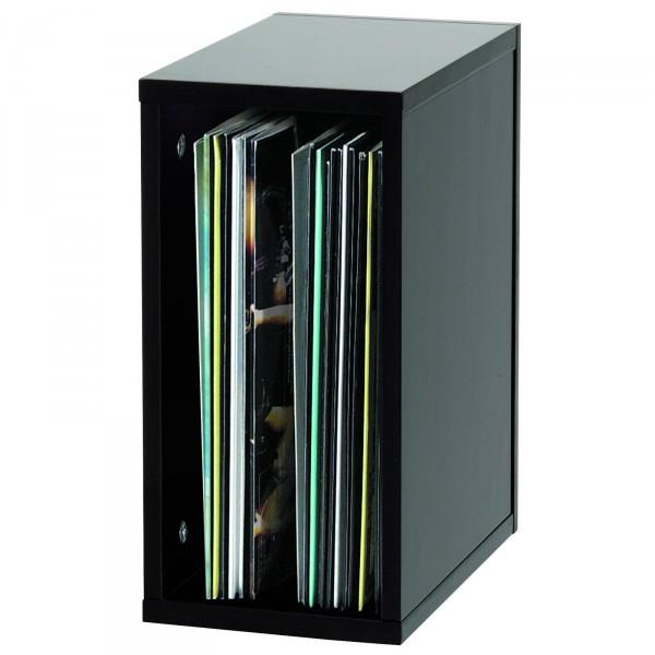 glorious record box schwarz 55 platten regal schallplatten cd m bel plattenspieler. Black Bedroom Furniture Sets. Home Design Ideas