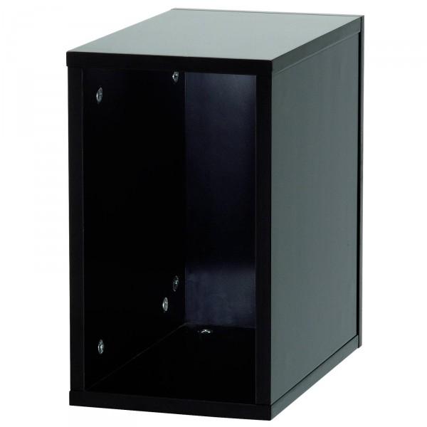 glorious record box schwarz 55 platten regal. Black Bedroom Furniture Sets. Home Design Ideas