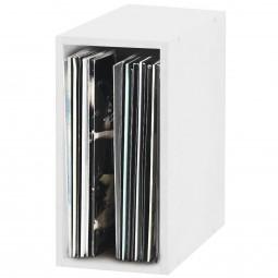 Glorious Record Box white 55 / Platten-Regal