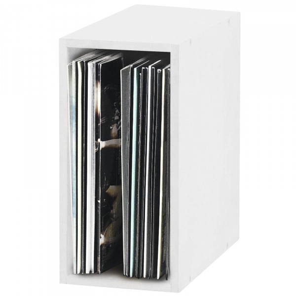 glorious record box white 55 platten regal schallplatten cd m bel plattenspieler. Black Bedroom Furniture Sets. Home Design Ideas