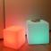 7even® LED Design Cube 30 / LED Leucht Sitzwürfel / Akku und IR-Fernbedienung