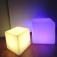 7even® LED Design Cube 40cm / LED-Sitzwürfel, In & Outdoor, RF Fernbedienung und APP Steuerung mögli