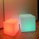 7even® LED Design Cube 50/ LED Leucht Sitzwürfel / In und Outdoor / Akku und Fernbedienung (IR), 50c