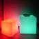 7even® LED Design Cube 50cm / LED-Sitzwürfel, In & Outdoor, RF Fernbedienung und APP Steuerung mögli