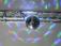 7even® LED Spiegelkugel 20cm mit Batteriemotor und Farbwechsel / LED-Spiegelkugelset Batterie 20cm L