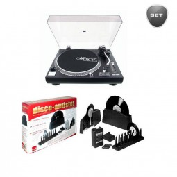 OMNITRONIC DD-2520 USB-Plattenspieler Set: 1x Omnitronic DD-2520 USB-Plattenspieler, 1x Knosti Schal