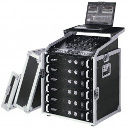 Reloop 19 Inch Rack Case 12 RU PRO with Laptop Tray