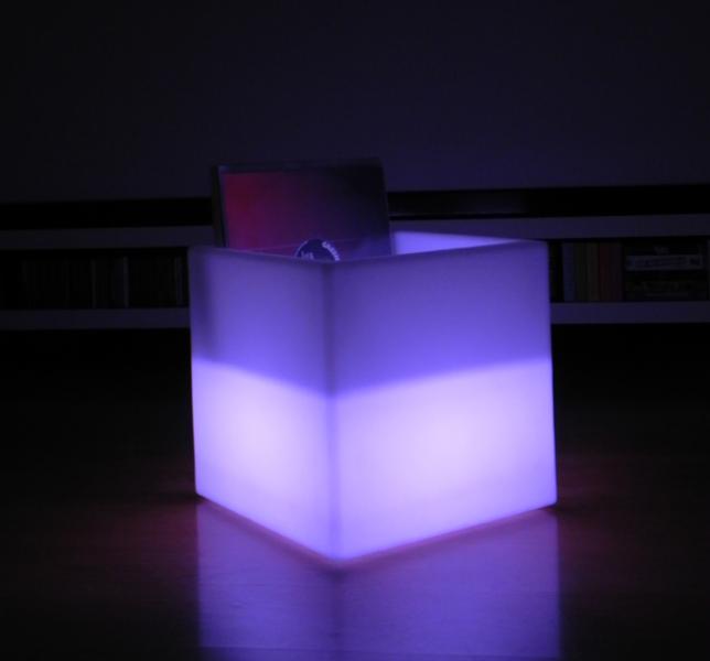 7even led uni box 40cm ir fernbedienung led regal. Black Bedroom Furniture Sets. Home Design Ideas